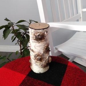 Unique Birch Bark Candle